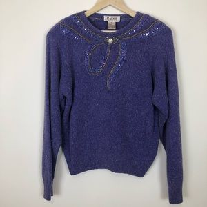 Sweaters - Vintage Raul sweater with beaded neck size Large